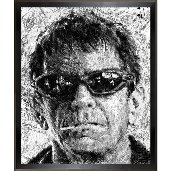 Jeffrey Pierson Lou Reed Framed Fine Art Print