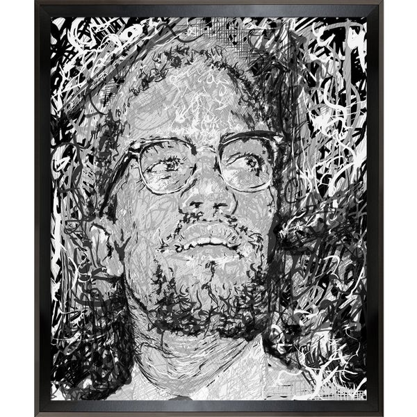 Jeffrey Pierson Malcolm X Framed Fine Art Print