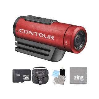 ContourROAM2 Action Camera Red and 16GB SD Card Bundle