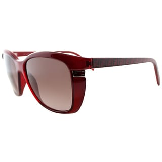 Fendi Women's FS 5258 618 Red Soft Cat Eye Sunglasses