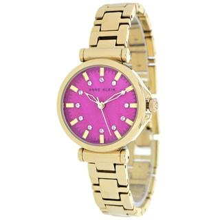 Anne Klein Women's AK-1622MMGB Classic Round Goldtone Bracelet Watch