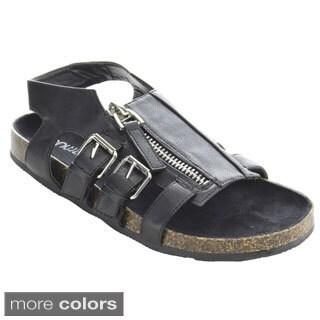 Bumper Women's 'Taja-04' Buckle Straps Flat Sandals