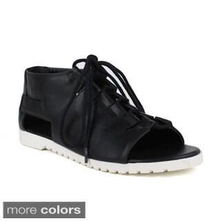 Fahrenheit Women's Polly-02 Lace-up Lightweight Sandals