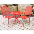 Jordan Manufacturing 3-piece Red Wrought Iron Bistro Set