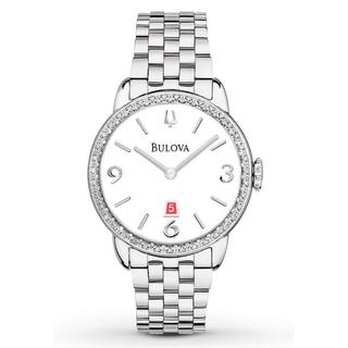 Bulova Women's 96R183 Analog Quartz Diamond Gallery Stainless Steel Watch