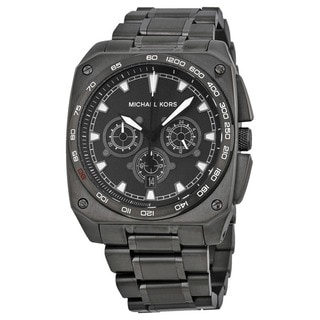 "Michael Kors Men's MK8392 ""Grandstand"" Chronograph Black Stainless Steel Watch"