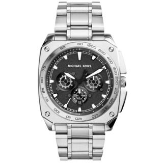 Michael Kors Men's MK8391 'Grandstand' Chronograph Black Sandblasted Stainless Steel Watch