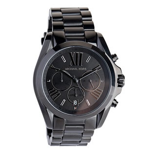 Michael Kors Unisex MK5550 'Bradshaw' Chronograph Black Stainless Steel Watch