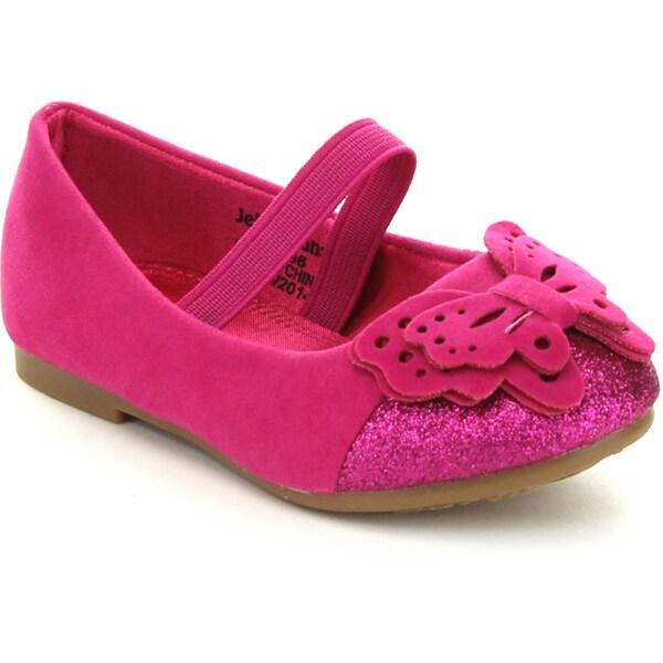Jelly Beans Toddler Girls' 'GODIMA' Butterfly Glitter Ballet Flats