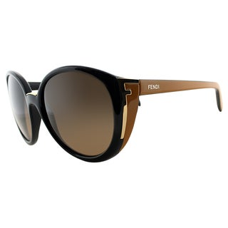 Fendi Women's FS 5358 001 Black Cat Eye Sunglasses