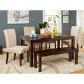 Simple Living Axis 6-piece Espresso Dining Set with Bench