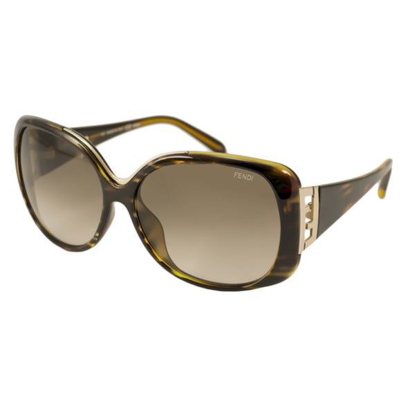 Fend Women's FS 5290 220 Striped Havana Sunglasses