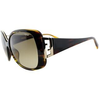 Fend Women's FS 5290 220 Striped Havana Sunglasses