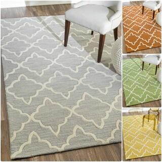 nuLOOM Handmade Modern Lattice Wool Rug (5' x 8')