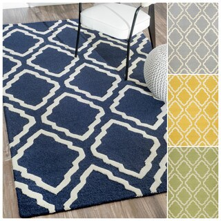 nuLOOM Handmade Modern Trellis Wool Rug (3'6 x 5'6)