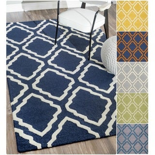 nuLOOM Handmade Modern Trellis Wool Rug (9' x 12')