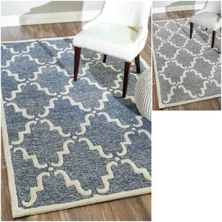 nuLOOM Handmade Modern Wool Trellis Rug (9' x 12')