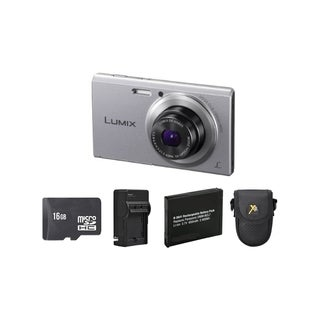 Panasonic FH10 Silver Digital Camera and 16GB SD Card Bundle