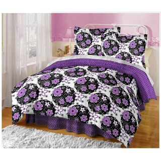 Katie Purple Flower 11-piece Bed Set