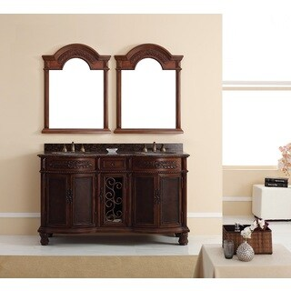 Venetian 60-inch Double Vanity, Brown Cherry