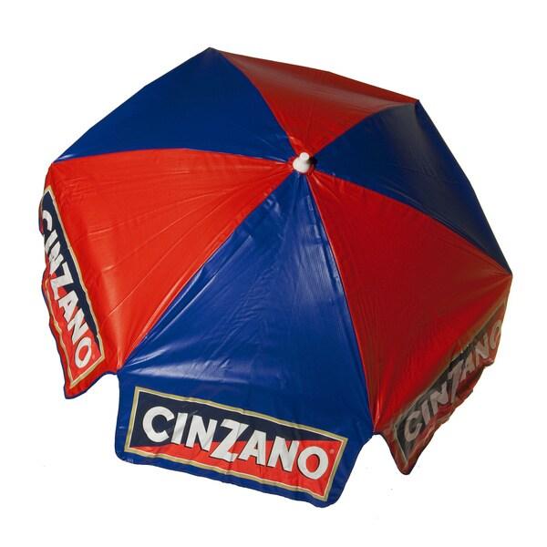 6-foot Cinzano Vinyl Umbrella