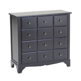 Black 4-Drawers Chest