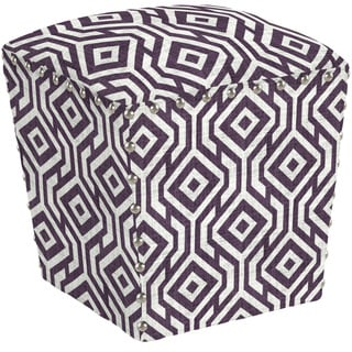 angelo:HOME Easton Lorin Square Lavender Field Ottoman