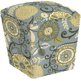 angelo:HOME Easton Autumn Grey Floral Ottoman