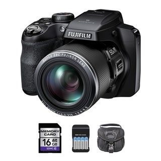 Fujifilm S9200 Black Digital Camera 16GB Bundle