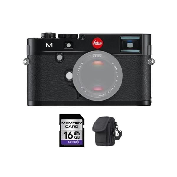 Leica M Digital Rangefinder Black Camera 16GB Bundle
