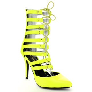 Eye Candie 'Timeless-012' Women's Lace Up Stiletto Heels