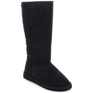 Soda Women's Aada Black Knee-high Snow Boots