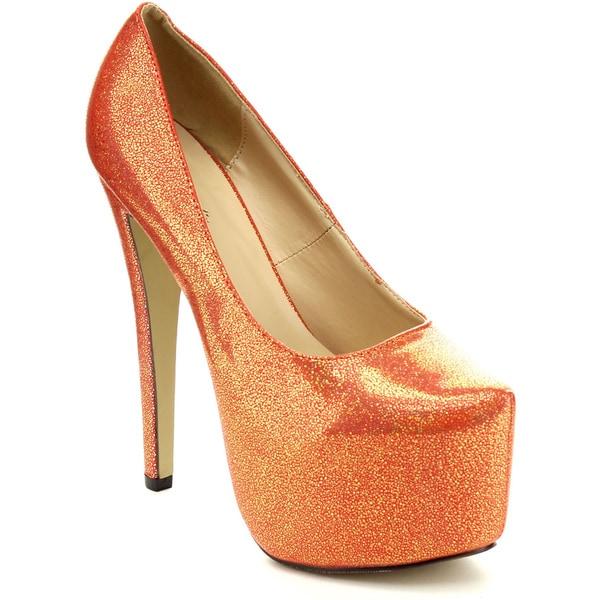 Eye Candie 'Timeless-018' Women's Shiny High Platform Party Heels
