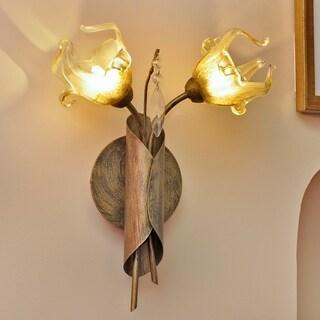 Bloom Bronze Metal 2-light Wall Sconce