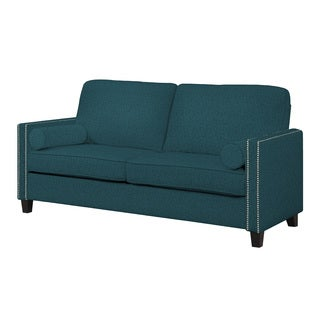 angelo:HOME Marie Midnight Paris Sky Blue Linen Sofa