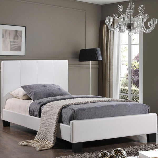 Alex White Fabric Bed Frame