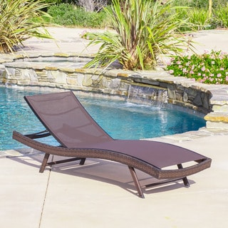 Christopher Knight Home Kauai Outdoor Textilene Chaise Lounge