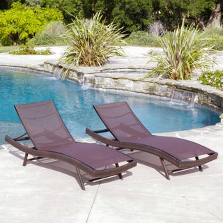Christopher Knight Home Kauai Outdoor Textilene Chaise Lounge (Set of 2)