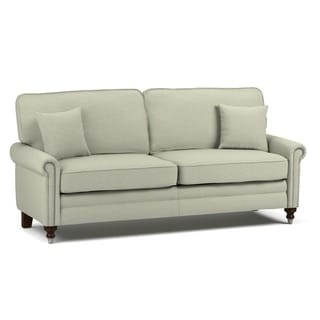 angelo:HOME Benjamin Oat Tan Linen Sofa