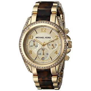 Michael Kors Women's MK6094 Blair Chronograph Two-tone Stainless Steel Watch