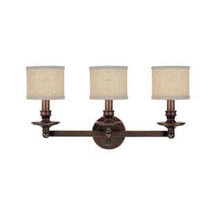 Capital Lighting Midtown Collection 3-light Burnished Bronze Bath/Vanity Light