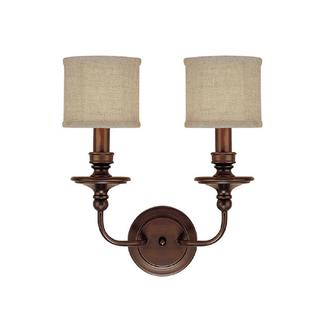 Capital Lighting Midtown Collection 2-light Burnished Bronze Wall Sconce Light