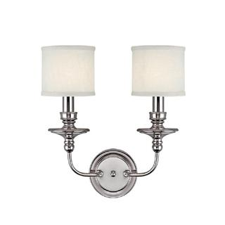 Capital Lighting Midtown Collection 2-light Polished Nickel Wall Sconce Light