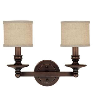 Capital Lighting Midtown Collection 2-light Burnished Bronze Bath/Vanity Light