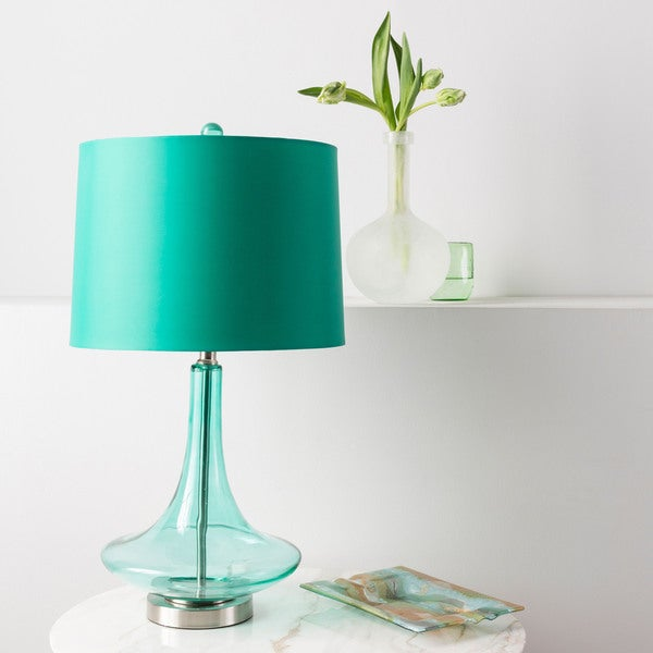 Modern Solid Teal Bray Table Lamp 14669658