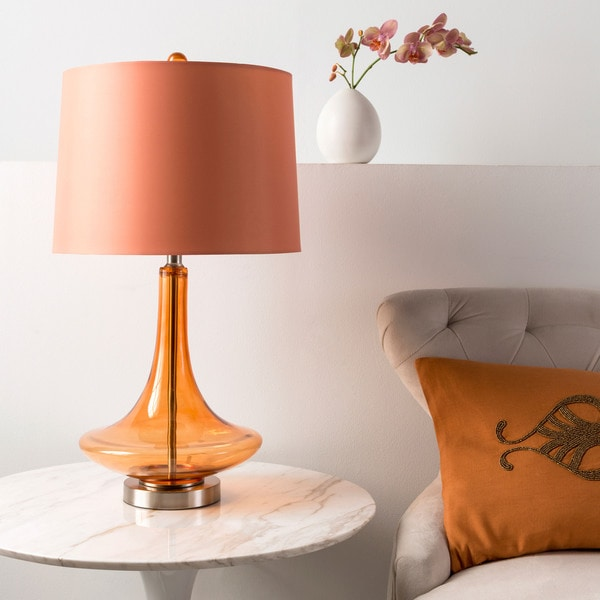 Modern Solid Orange Bray Table Lamp 14669663