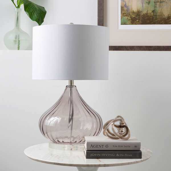 Solid Transparent Grey Piper Table Lamp