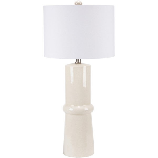 Elegant Solid Cream Eve Table Lamp