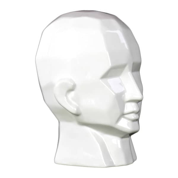 Gloss White Ceramic Small Head