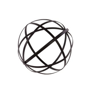 Black Metal Orb Dyson Sphere Design Decor (5 circles)
